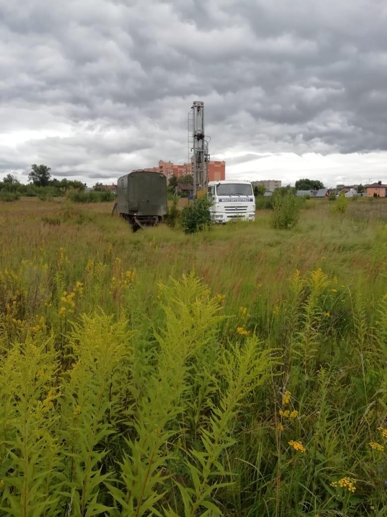 геодезические работы в Рязановском, где будет построен компенсационный дом