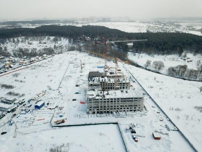 Компенсационный дом в поселении Рязановское. Фото с дрона